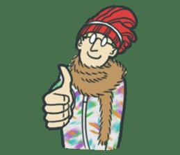 Johnny the weird winter hat sticker #15112556