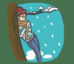 Johnny the weird winter hat sticker #15112557