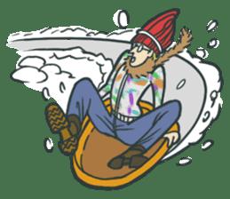 Johnny the weird winter hat sticker #15112560