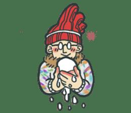 Johnny the weird winter hat sticker #15112562