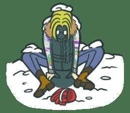 Johnny the weird winter hat sticker #15112563