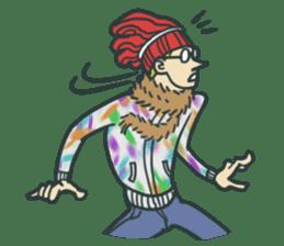Johnny the weird winter hat sticker #15112565
