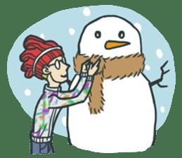 Johnny the weird winter hat sticker #15112566