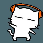 สติ๊กเกอร์ไลน์ white cat - super naughty