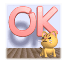 Cat is jumping out[3D Animated] sticker #15123320
