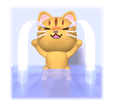 Cat is jumping out[3D Animated] sticker #15123332