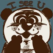 สติ๊กเกอร์ไลน์ Panda of the Darkness