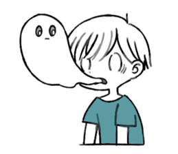 Ghost&boy sticker #15134469