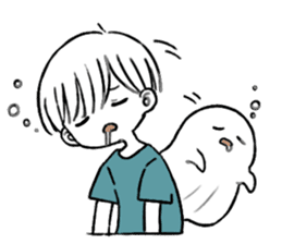 Ghost&boy sticker #15134475