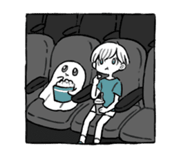 Ghost&boy sticker #15134479