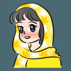 sweet scarf girl