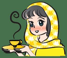 sweet scarf girl sticker #15137572