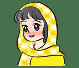 sweet scarf girl sticker #15137573