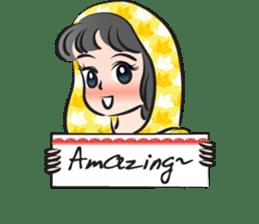 sweet scarf girl sticker #15137580