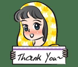 sweet scarf girl sticker #15137585