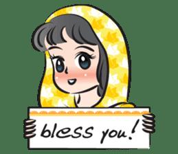 sweet scarf girl sticker #15137587