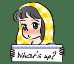 sweet scarf girl sticker #15137591
