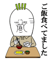 Middle-aged man of the Japanese radish5 sticker #15157438
