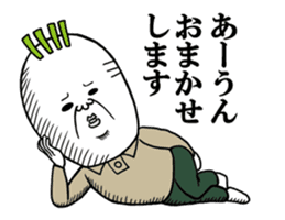 Middle-aged man of the Japanese radish5 sticker #15157441