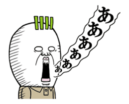 Middle-aged man of the Japanese radish5 sticker #15157444