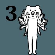 สติ๊กเกอร์ไลน์ Aggressive Bear Betakkuma 3 (TW/HK)
