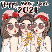 สติ๊กเกอร์ไลน์ สวัสดีปีใหม่ (special big sticker)