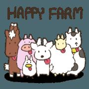 สติ๊กเกอร์ไลน์ Happy Farming