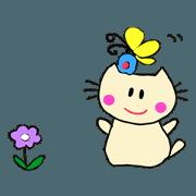 สติ๊กเกอร์ไลน์ Dinkyneko & Friends #10 _Enjoy Spring !