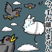 สติ๊กเกอร์ไลน์ Go! Balloon rabbit.
