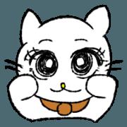 สติ๊กเกอร์ไลน์ White cat,everyday conversation.