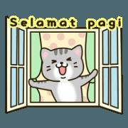 สติ๊กเกอร์ไลน์ Good morning & good night(Indonesian)