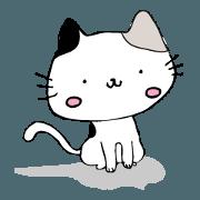 สติ๊กเกอร์ไลน์ Mike of a calico cat