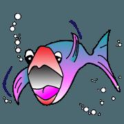 สติ๊กเกอร์ไลน์ Fun Fish
