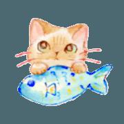 สติ๊กเกอร์ไลน์ Cute cat