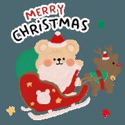 สติ๊กเกอร์ไลน์ Muffin Bear : Christmas & New Year