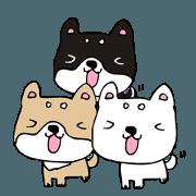 สติ๊กเกอร์ไลน์ nagomi48 Art shiba1