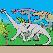 สติ๊กเกอร์ไลน์ Skylar's Dino-World