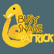 สติ๊กเกอร์ไลน์ 6-9/The busy snake-Patrick