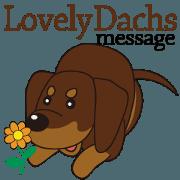 สติ๊กเกอร์ไลน์ Lovely Dachs message [animation]