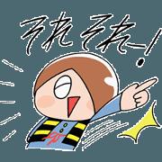สติ๊กเกอร์ไลน์ GeGeGe no Kitaro in a Hurry-Scurry!