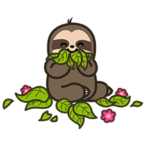 Cutey Sloth sticker #15505166