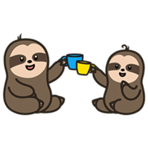 Cutey Sloth sticker #15505171
