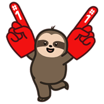 Cutey Sloth sticker #15505173