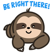 Cutey Sloth sticker #15505184