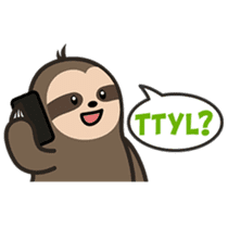 Cutey Sloth sticker #15505186