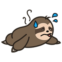 Cutey Sloth sticker #15505190