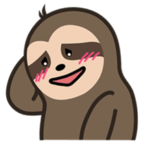 Cutey Sloth sticker #15505193