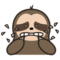 Cutey Sloth sticker #15505195