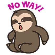 Cutey Sloth sticker #15505200