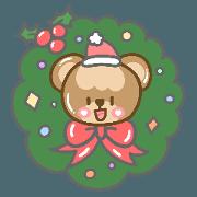 สติ๊กเกอร์ไลน์ Bubble Bear loves Christmas